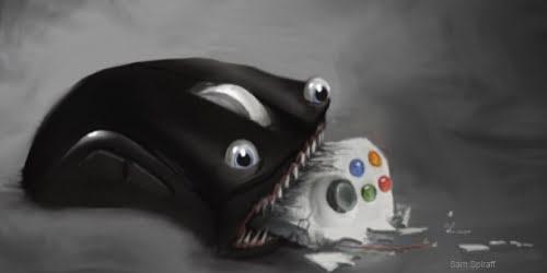 image ordinateur vs console