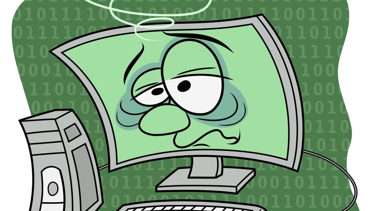 ordinateur santé virus malade